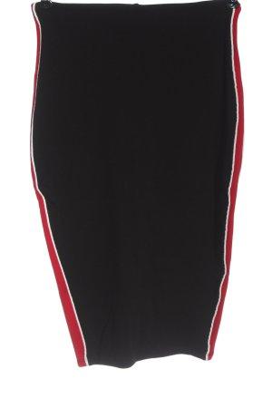 Amisu Bleistiftrock schwarz-rot Casual-Look