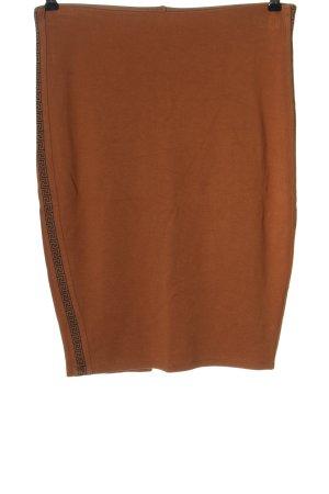 Amisu Ołówkowa spódnica brązowy-czarny Graficzny wzór Elegancki