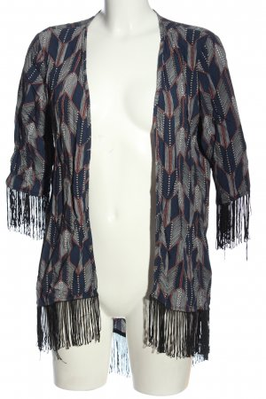 Amisu Blusenjacke grafisches Muster Casual-Look