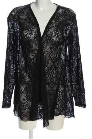 Amisu Blouse Jacket black weave pattern casual look