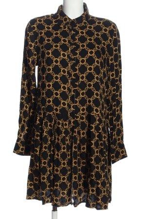 Amisu Sukienka koszulowa czarny-bladożółty Na całej powierzchni