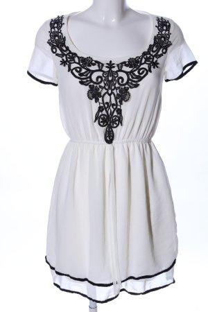 Amisu Robe chemisier blanc-noir style décontracté