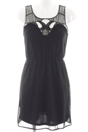 Amisu Blusenkleid schwarz Elegant