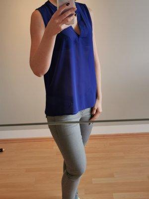 Amisu Blusa de túnica azul