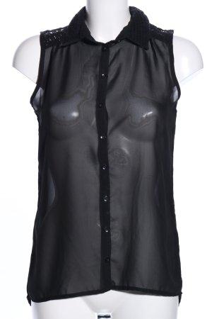 Amisu Blusentop schwarz Elegant