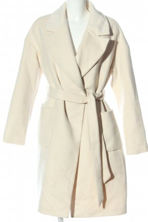 Amisu Abrigo largo blanco estilo «business»