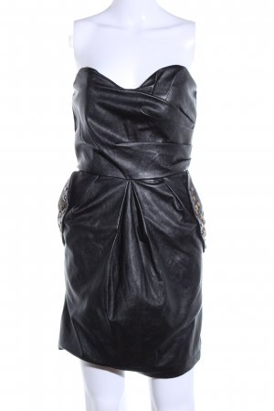 Amisu Bustierkleid schwarz Elegant