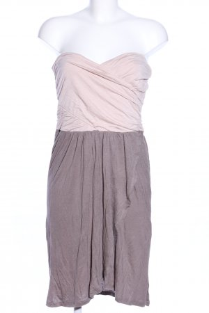Amisu Bustier Dress light grey-natural white flecked casual look