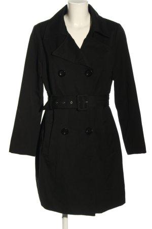 Amisu Marynarski płaszcz czarny W stylu casual