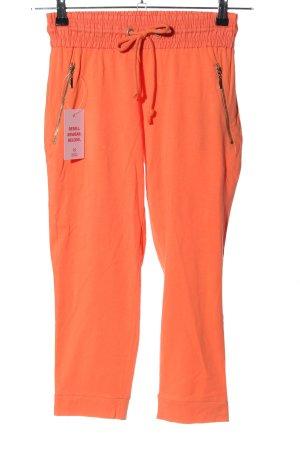 Amisu Spodnie Capri jasny pomarańczowy W stylu casual