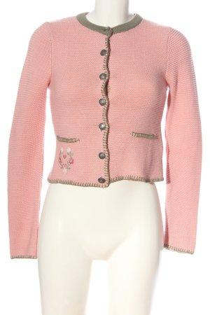 Amisu Cardigan pink-khaki Zopfmuster Casual-Look