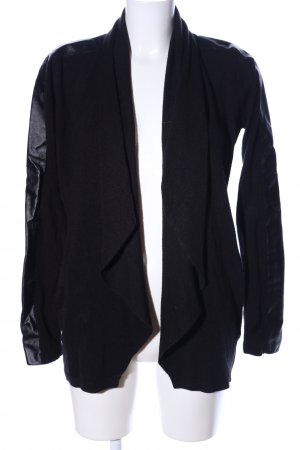 Amisu Cardigan schwarz Business-Look