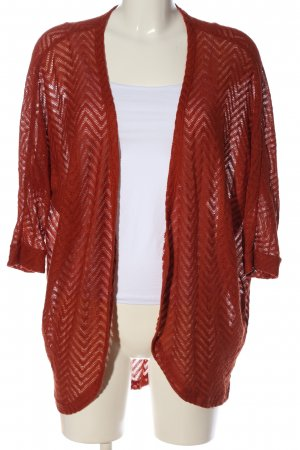 Amisu Cardigan rot grafisches Muster Casual-Look