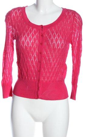 Amisu Cárdigan rosa Patrón de tejido look casual