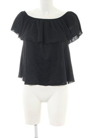 Amisu Carmen Blouse black classic style