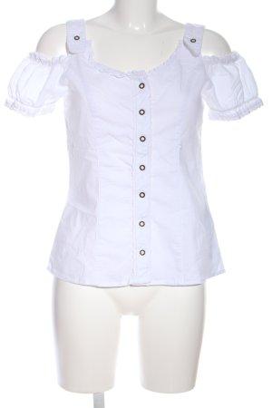 Amisu Blusa alla Carmen bianco stile casual