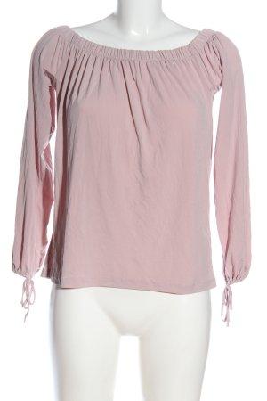 Amisu Top épaules dénudées rose moucheté style décontracté