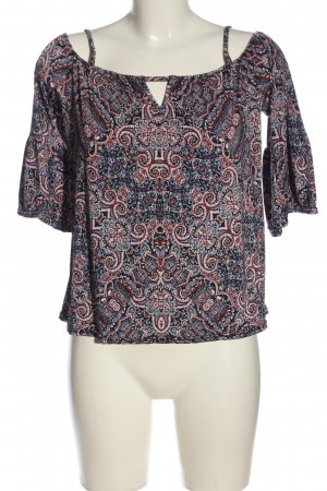 Amisu Carmen shirt volledige print casual uitstraling