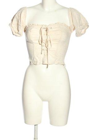 Amisu Top épaules dénudées crème style décontracté
