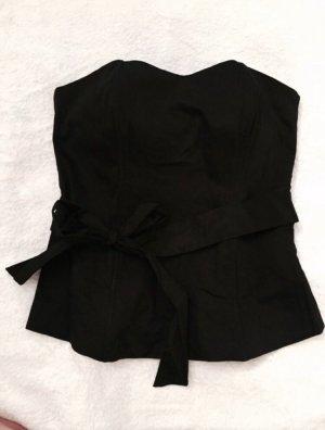Amisu Corsage Masche schwarz