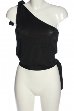 Amisu Cropped shirt zwart casual uitstraling
