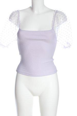Amisu Cropped Shirt lila Elegant