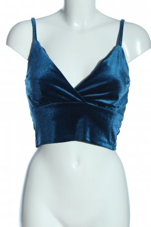 Amisu Cropped Top blue casual look