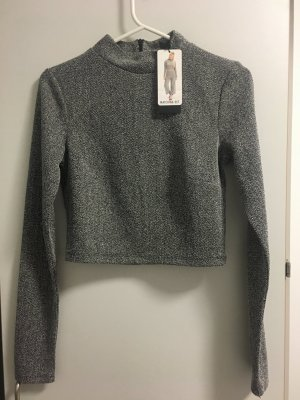 Amisu Top corto grigio-grigio scuro