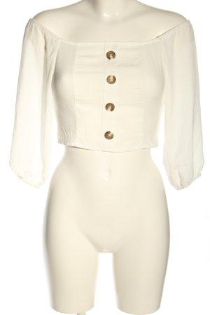 Amisu Cropped Shirt wollweiß Casual-Look