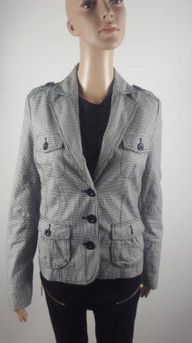 Amisu Damen Jacke Blazerjacke leichte Stoffjacke kariert Größe 36