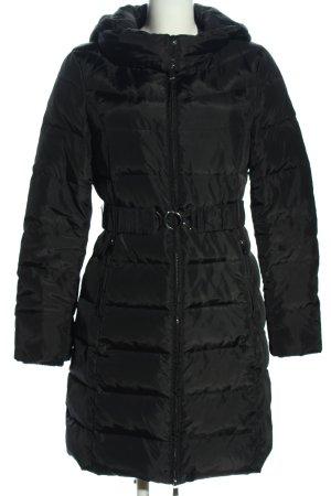 Amisu Down Coat black quilting pattern casual look