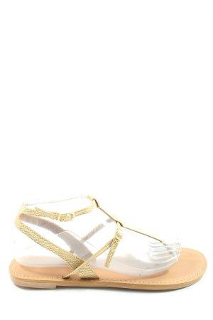 Amisu Sandales Dianette doré style décontracté