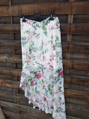 Amisu Broomstick Skirt white-lime-green