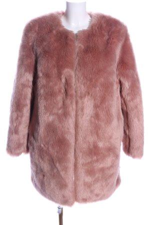 Amisu - Fake Fur Jacke -  in rosa - beige, Gr. 38 - sehr gut!