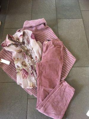 Amisu Corduroy Trousers grey lilac