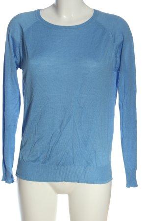 Amisu Cienki sweter z dzianiny niebieski W stylu casual