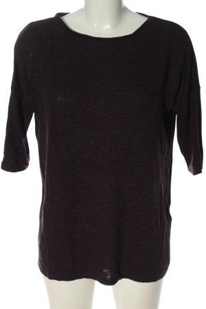 Amisu Pull en maille fine noir-violet moucheté style décontracté