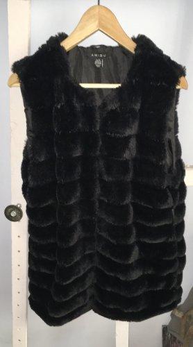Amisu Fur vest black