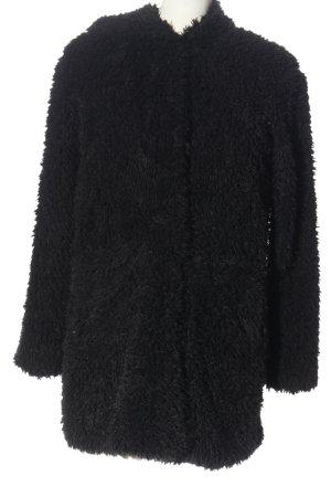 Amisu Veste en fourrure noir style mode des rues