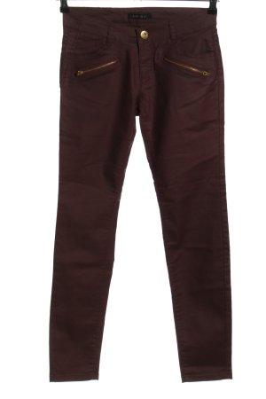 Amisu Pantalon taille basse violet style décontracté