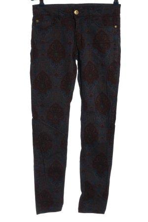 Amisu Five-Pocket-Hose abstraktes Muster Casual-Look
