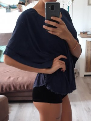 Amisu Fledermaus-Shirt marineblau M/L