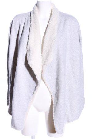 Amisu Veste polaire gris clair moucheté style décontracté