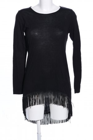 Amisu Fringed Dress black casual look