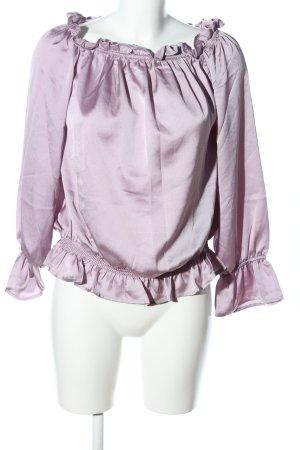 Amisu Glanzbluse pink Elegant