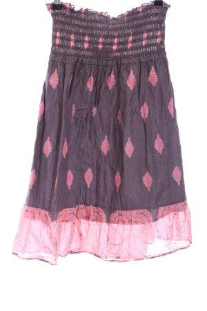 Amisu Falda acampanada rosa-negro look casual