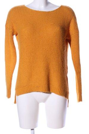 Amisu Grof gebreide trui licht Oranje casual uitstraling