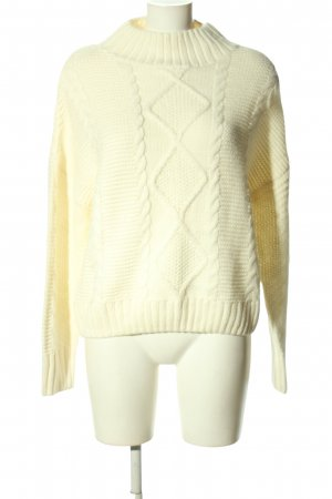 Amisu Coarse Knitted Sweater cream graphic pattern casual look
