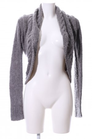 Amisu Crochet Cardigan light grey cable stitch casual look