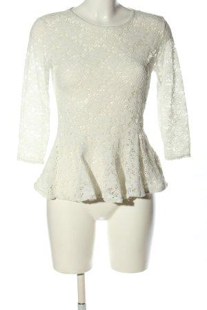 Amisu Crochet Shirt white casual look